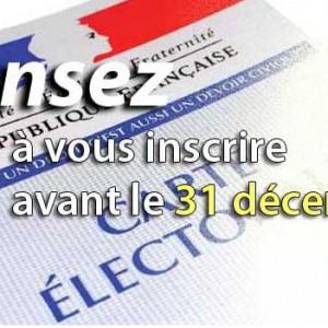 inscriptions liste électorales
